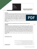 Consideraciones Cuantitativas Sobre El Reciente Conflicto