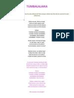 TUMBALALAIKA - Letra, Traducción y Acordes.