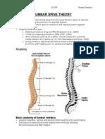 Lumbar Spine Theory