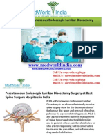 Percutaneous Endoscopic Lumbar Discectomy (PELD) Surgery in India