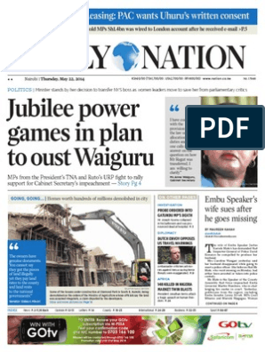 Daily Nation 22 05 2014 | International Criminal Court | Kenya