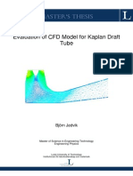 Evaluation of CFD Model for Kaplan Draft Tube