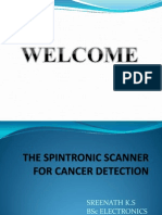 The Spintronic Scanner for Cancer Detection