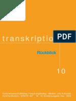 Transkriptionen Nr-10 Sonderausgabe