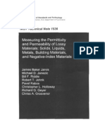 Measuring the Permittivity and Permeability of Lossy Materials NIST Book