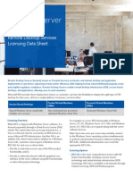 Windows Server 2012 R2 Remote Desktop Services Licensing Datasheet