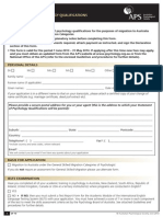 Assessment of Quals Migration Form