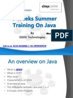 6 Weeks Summer Training  on Java