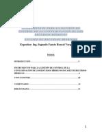 Instrumentos Para La Gestión de Control de La Contaminación de Los Recursos Hídricos