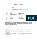 Plan Anual de Tutoria - Prof. Genoveva