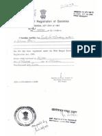 thf registration certificate