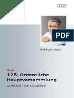 Rupert Stadler - 125. Ordentliche Hauptversammlung 2014, 1. Teil