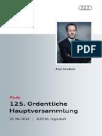 Axel Strotbek - 125. Ordentliche Hauptversammlung 2014