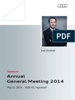 Axel Strotbek - 125. Annual General Meeting 2014