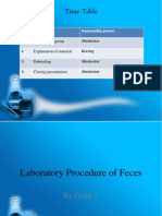 Laboratory Procedure of Feces