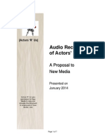 Detailed Proposal for the Audio Recording