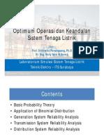 Optimum Operasi Dan Keandalan Sistem Tenaga Listrik
