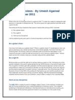Hult MBA Reviews - By Umesh Agarwal Academic Year 2011