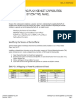 Identifying PL421 Genset Capabilities by Control Panel