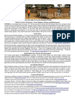 Jumaa Prayer Bulletin 23 May 2014