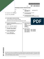 EP1005656B1 FLUID SAMPLE TESTING SYSTEM