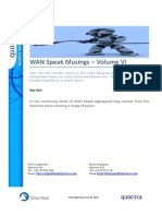 WANSpeak Musings - Volume VI