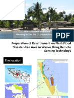 Preparation of Resettlement on Flash Flood Disaster-free Area