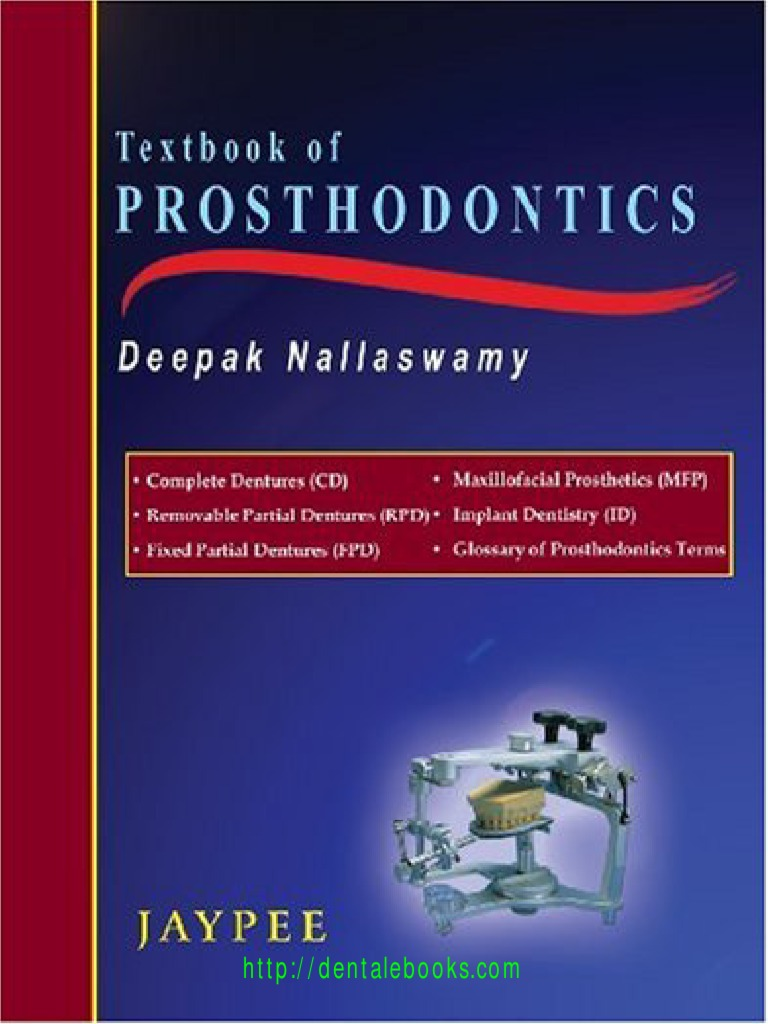 Textbook of prosthodontics dentures dental implant fandeluxe