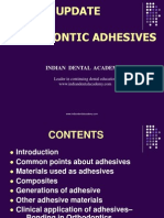 Orthodontic Adhesives / orthodontic courses by Indian dental academy