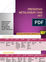 Metallography and Heat Surface Treatment