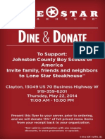 May 2014 Dine and Donate Boy Scouts