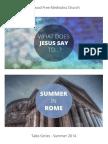 Talks Series - Summer 2014