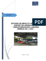Estudio de Impacto Ambiental Expost Labores Aéreas CIA. Ltda. PDF