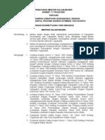 permendagri nomor 71 tahun 2007 tentang batas daerah kabupaten gunung kidul dengan kabupaten bantul provinsi daerah istimewa yogyakarta