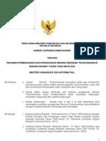 permenkominfo nomor 2 tahun 2008 tentang pedoman pembangunan menara bersama telekomunikasi