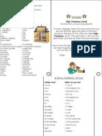 spanish year 7 unit 3 vocab sheet