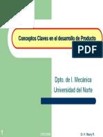 Conceptos Claves en El Desarrollo de Productos