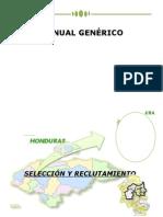 Manual Generico Reclutamiento y Seleccion. Socializado 1 Agosto 2010