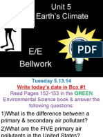 5 bellwork - earths climate