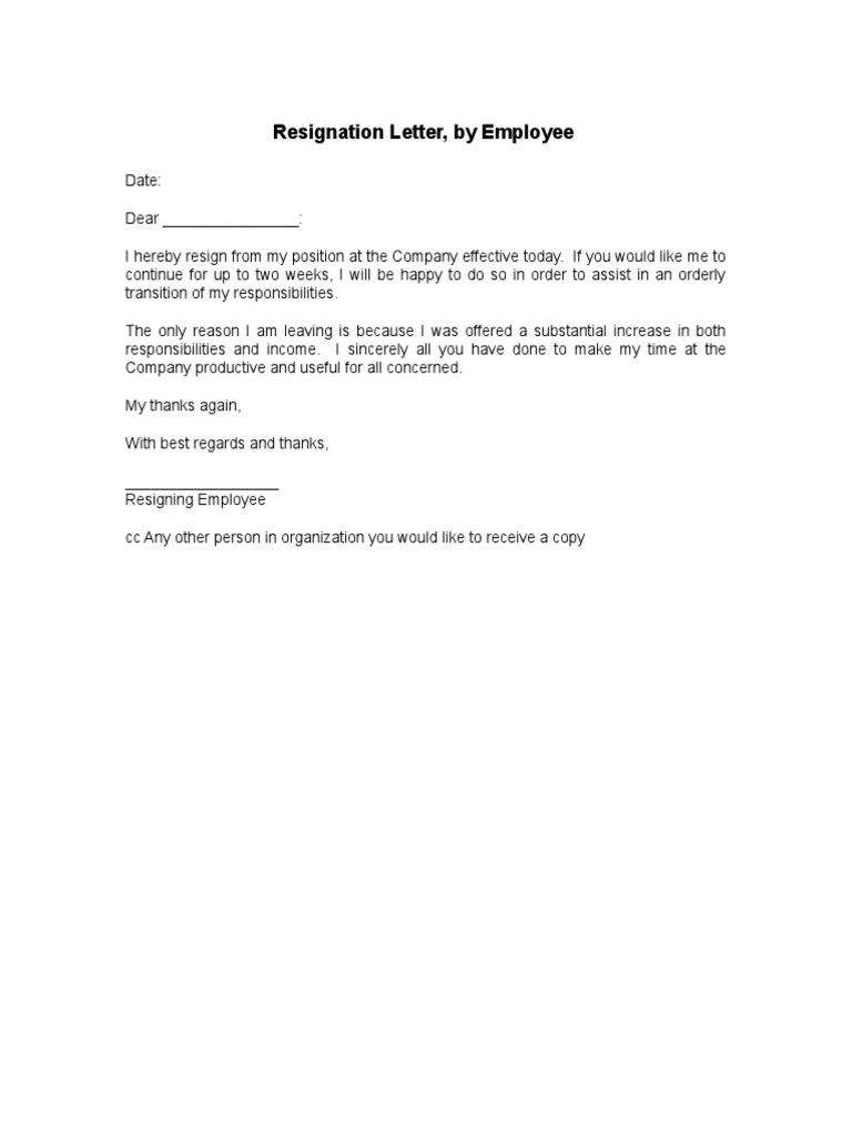 Lovely Resignation Letter,by Employee.rtf | Politics | Social Institutions