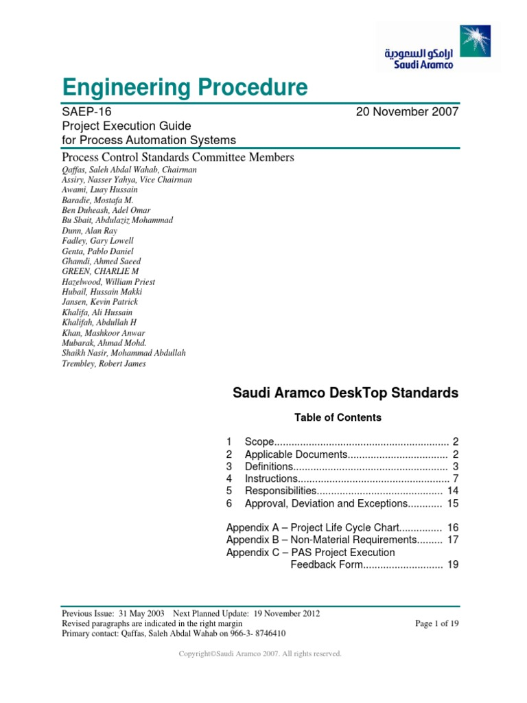 Saep 16pdf Specification Technical Standard Automation
