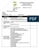 VADEA NSW AGM 2014 Agenda