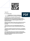 NUS Media Release - Commission of Audit's Disgraceful Recommendations will Burden Students Further