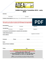 2014.15 Nomination Form Executive Position