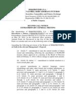 Extraordinary Shareholders' Meeting - 05.26.2014 - Call Notice