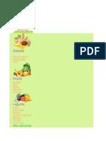 tabelul diversificarii