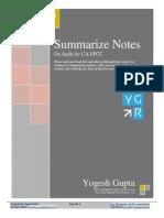 IPCC Auditing Notes