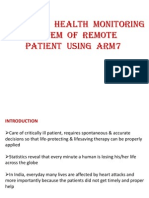patient monitoring using arm7
