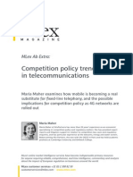 Competition Policy Ternds in Telecommunication