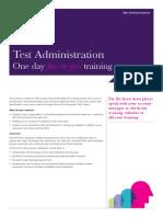 Training Course Factsheet Test Administration
